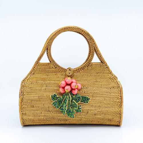 Berries Handwoven Bag Front
