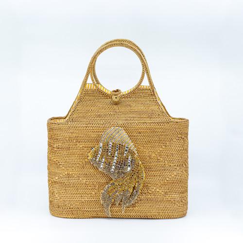 Goldfish Handwoven Bag front