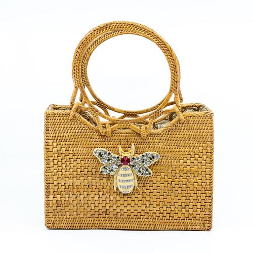 Bumblebee Handwoven Bag Front