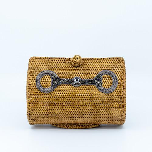 Snaffle Clutch Handwoven Bag Front