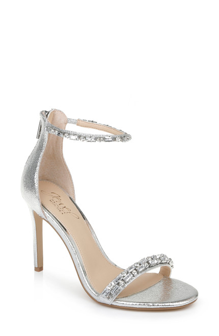 Silver Campbell Jeweled Stiletto Front Side