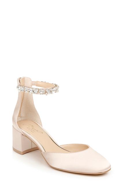 Champagne Cathleen Block Heel Front Side