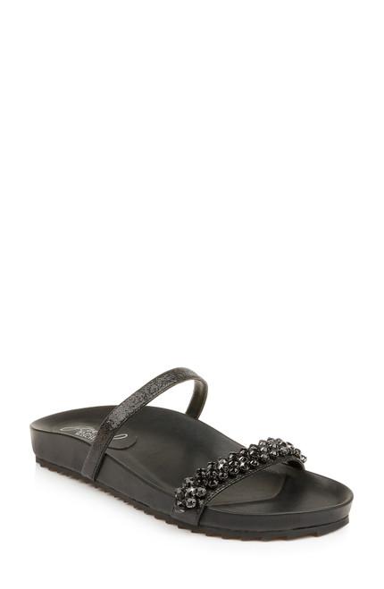 Black Ossie Metallic Sandal Front Side