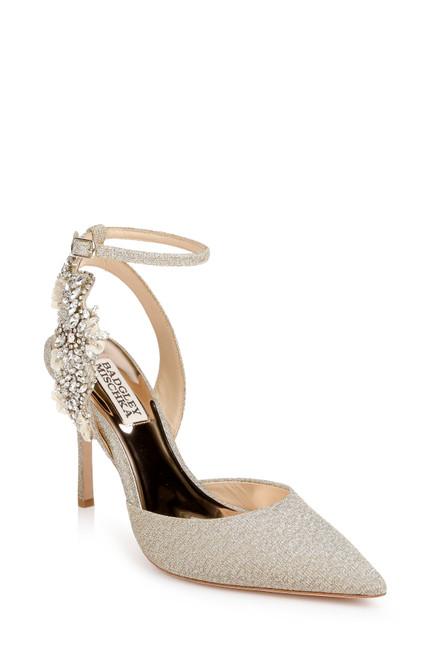 Platino Blanca Strappy Crystal Stilettos Front Side