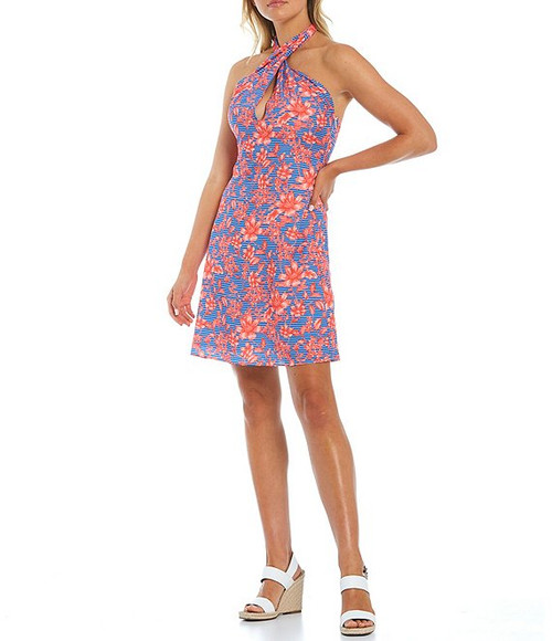 Cross Over Printed Dress Front
