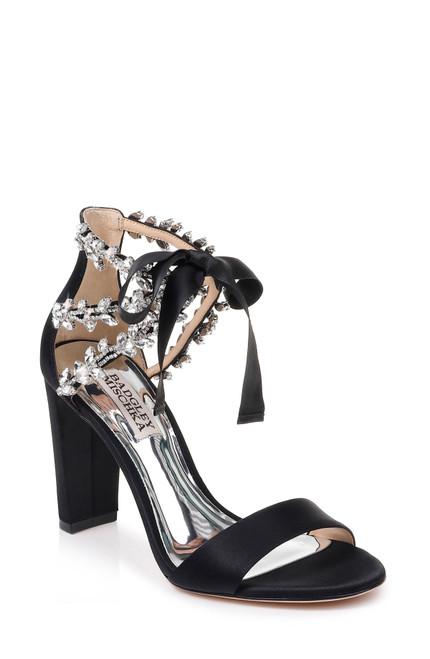 Black Everafter Embellished Block Heel Front