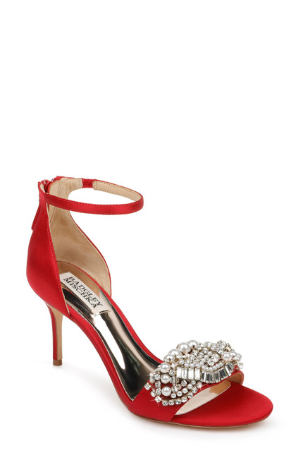 Red Odalis Ornamented Evening Shoe Front