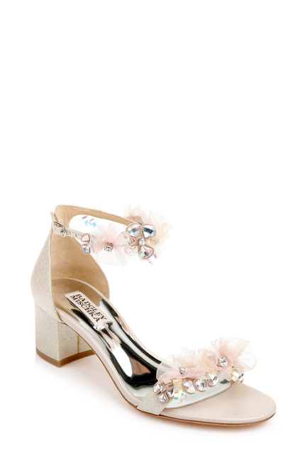 Opal Candy Embellished Block Heel - Front angle