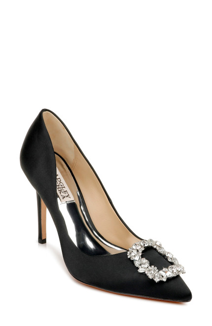 Black Cher Pointed Toe Evening Pump Front