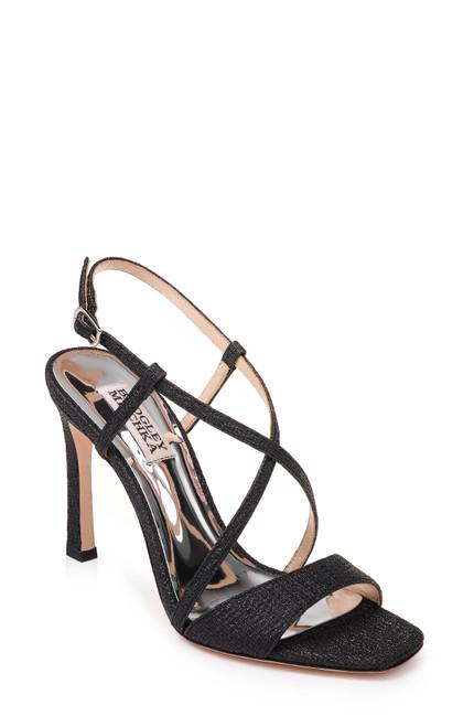 Black Ebiza Strappy Evening Shoe Front