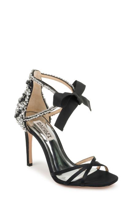Black Joanie Crystal Embellished Evening Shoe Front