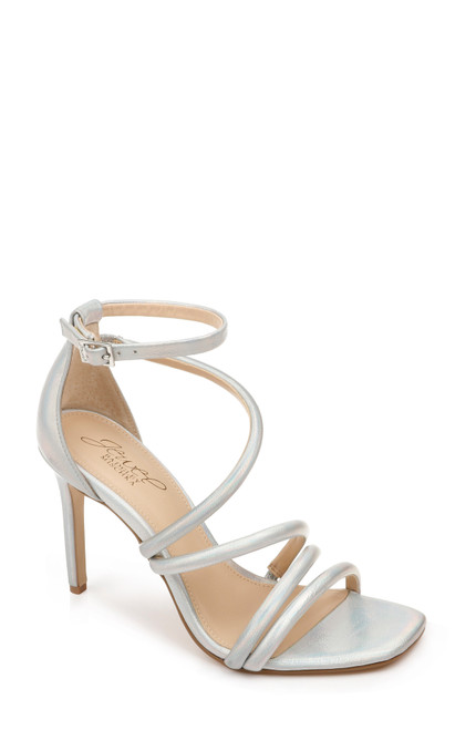Silver Nikkol II Ankle Strap Evening Shoe Front