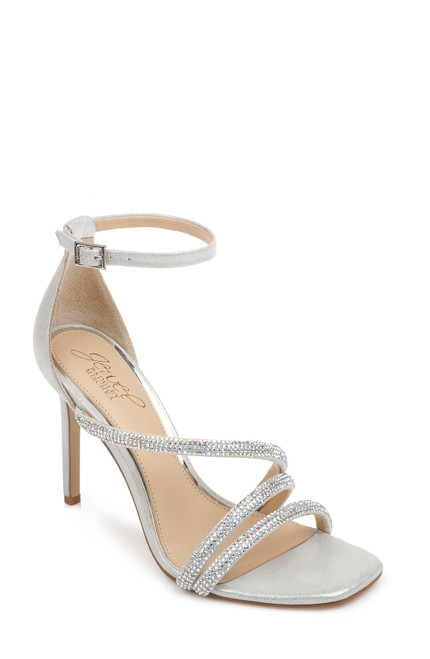 Silver Iridescent Naylor Strappy Evening Shoe Front