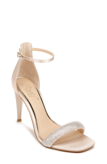Champagne Easter Ankle Strap Stiletto Front