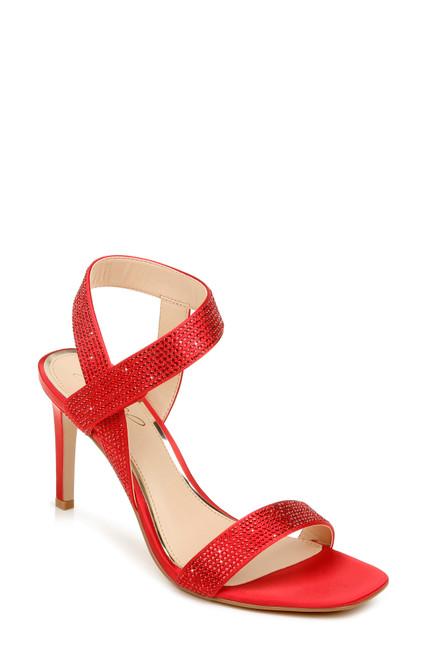 Deep Red Edwina Strapply Stiletto Front