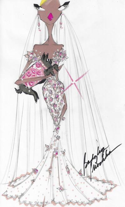Bridal consultation sketch