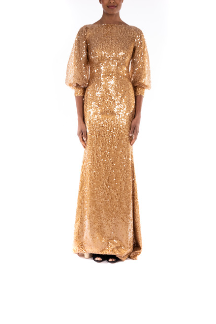 Gold Golden Gown Front
