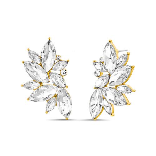 Navette Cluster Stone Earrings