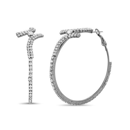 Art Deco Crystal Hoop Earrings