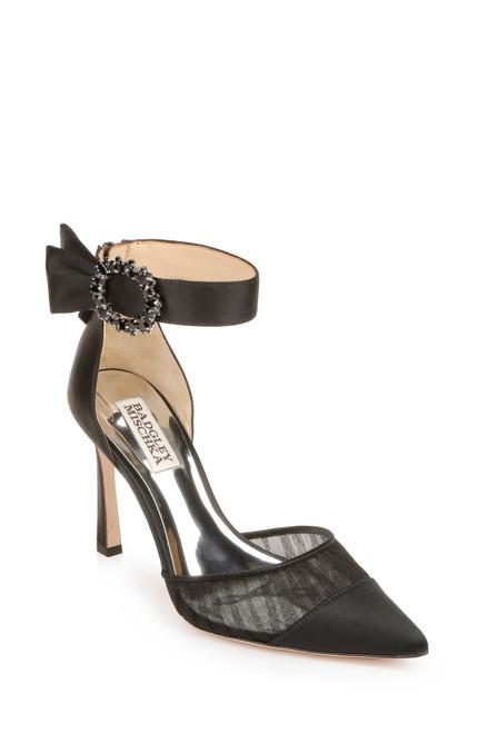 Black Mariel Ornament Stiletto Front Side