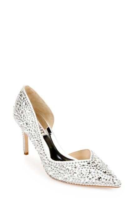 White Daisy III Wide-Width Bridal Stiletto Front Side