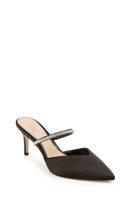 Black Jan Strappy Pointed Toe Stiletto Front Side
