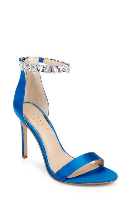 Blue Jax Ankle Strap Stiletto Front Side