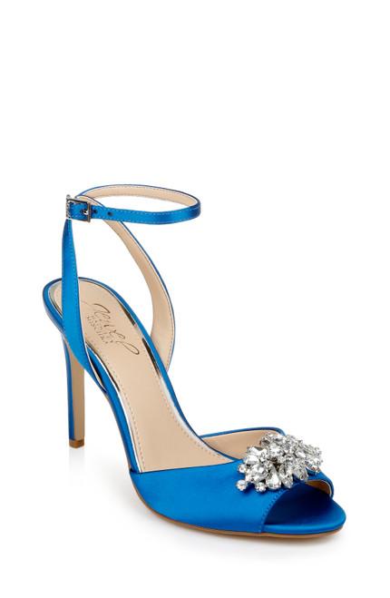 Blue Jessa Peep Toe Stiletto Front Side