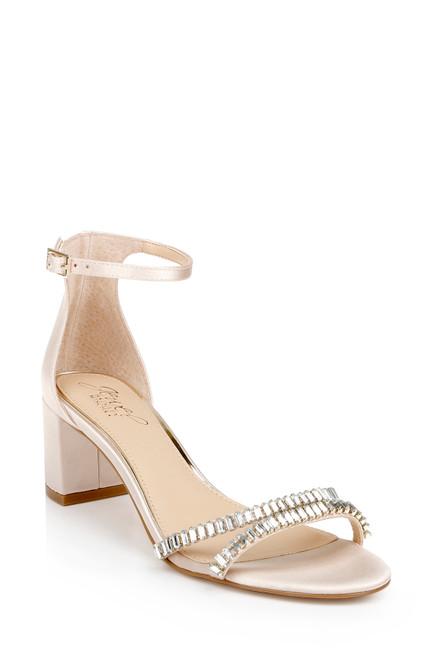 Champagne Joanne Strappy Block Heel Front Side