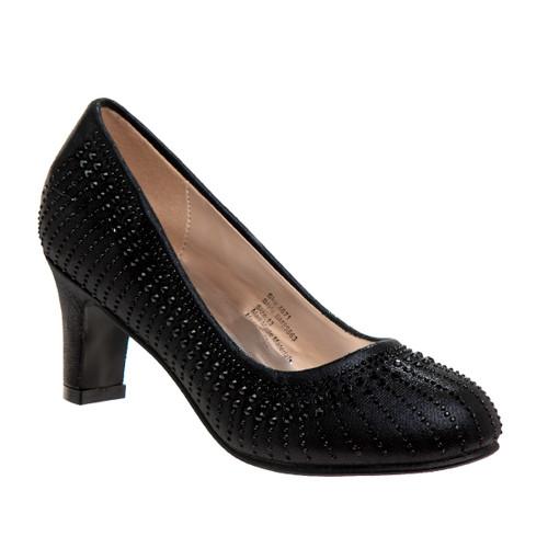 Black Girls' Dress Heels Front Side