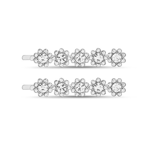 Floral Row Bobby Pins