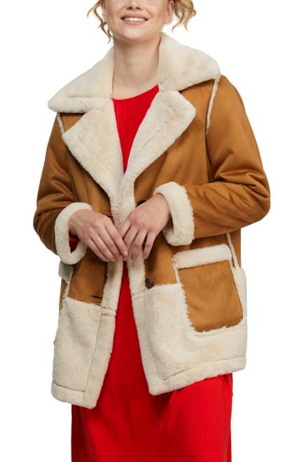 Luggage Peace Reversible Faux Shearing Jacket Alt Front