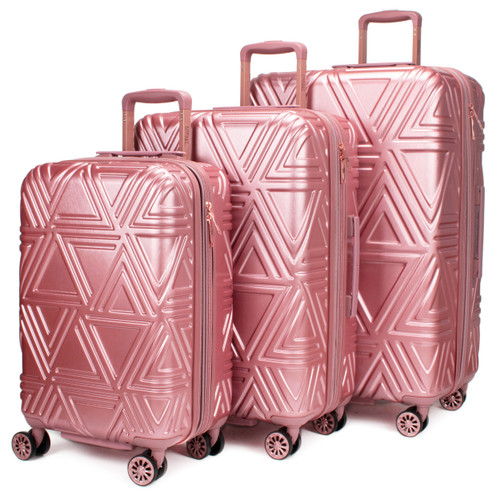 Rose Contour Expandable Spinner Luggage Set