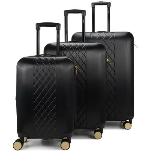 Black Diamond Hard Expandable Spinner Luggage Set