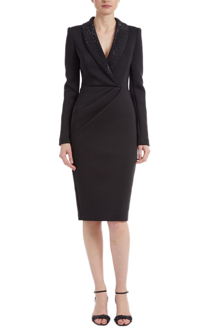 Black Professional Cocktail Dress Front