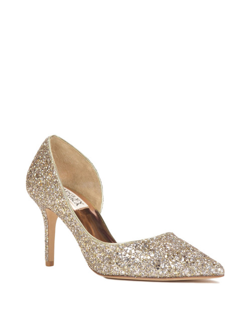 Platino Daisy Pointed Toe Evening Shoe Front