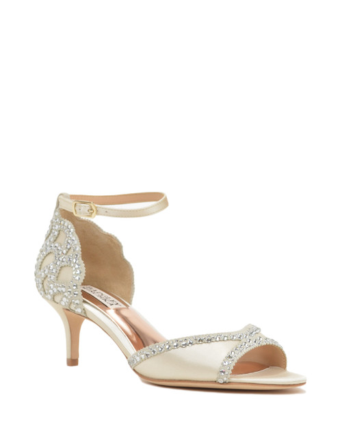 Ivory Gillian Ankle Strap Evening Shoe