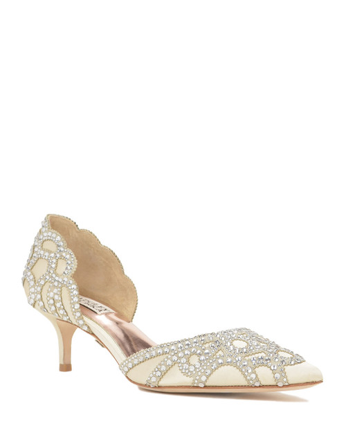 Ivory Ginny Pointed Toe D'Orsay Evening Shoe