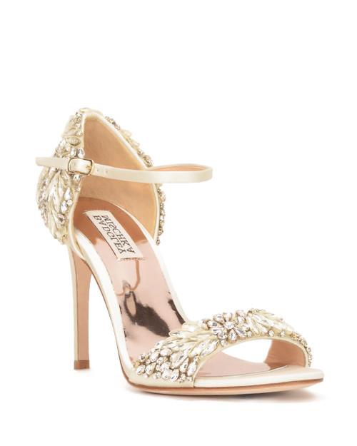 Ivory Tampa Embellished Heel Evening Shoe