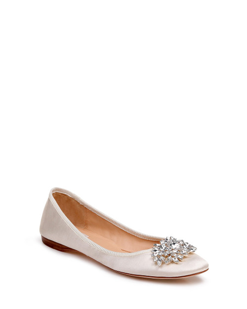 Ivory Pippa Ballet Flat Evening Shoe front