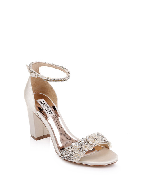Ivory Finesse Ankle Strap Evening Shoe Front