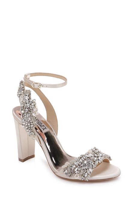 Ivory Libby Crystal Embellished Evening Shoe Front