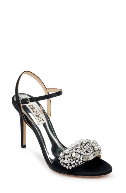 Black Odelia Embellished Evening Shoe Front
