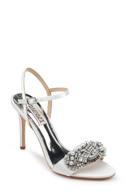Soft White Odelia Embellished Evening Shoe Front