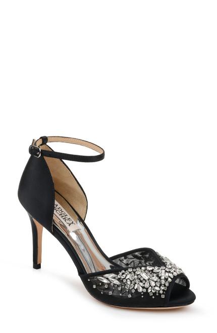 Black Opera Embellished Evening Shoe