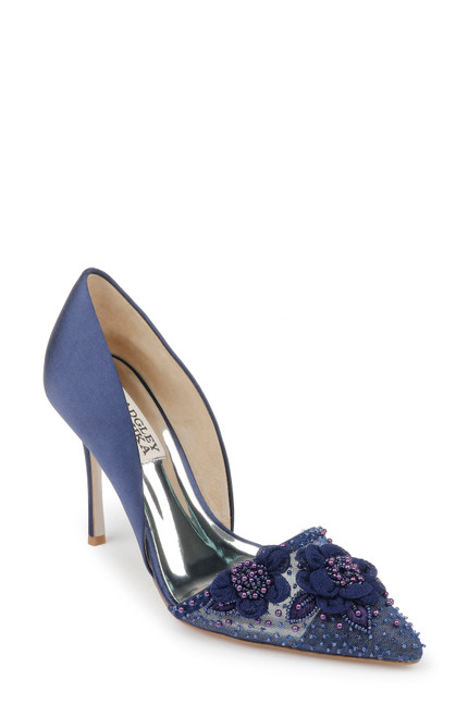 Midnight Ophelia Embellished D'Orsay Heel Front
