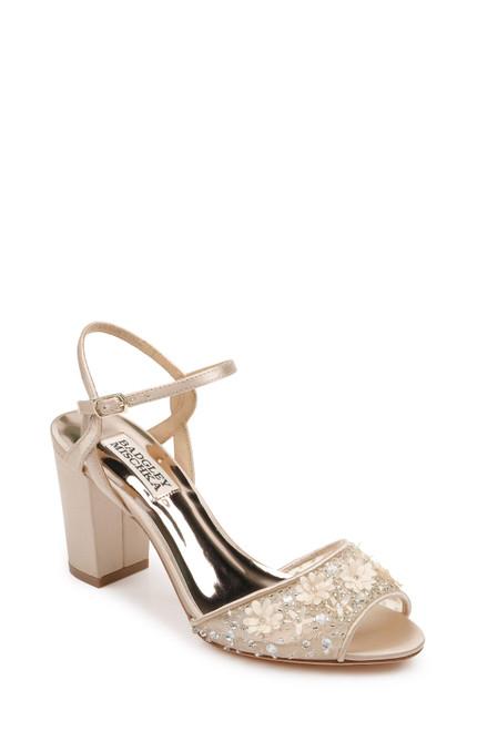 Nude Carlie Peep Toe Block Heel