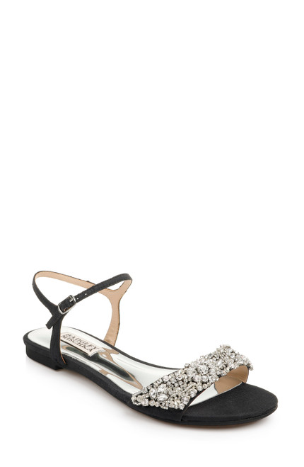 Black Carmella Crystal Embellished Sandal Front