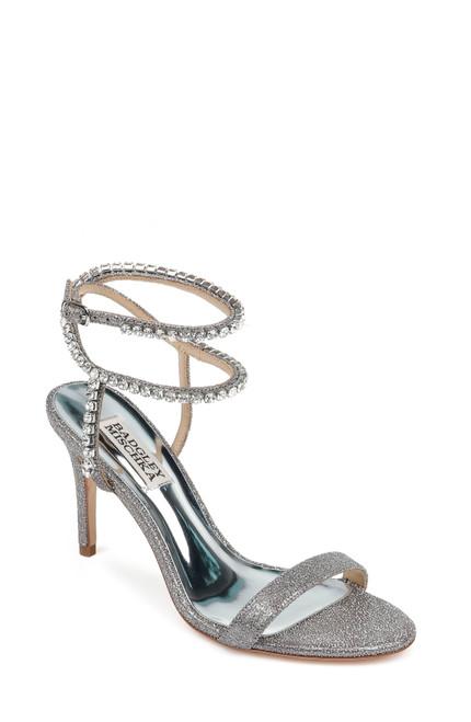 Pewter Claudette Diamond Evening Heel