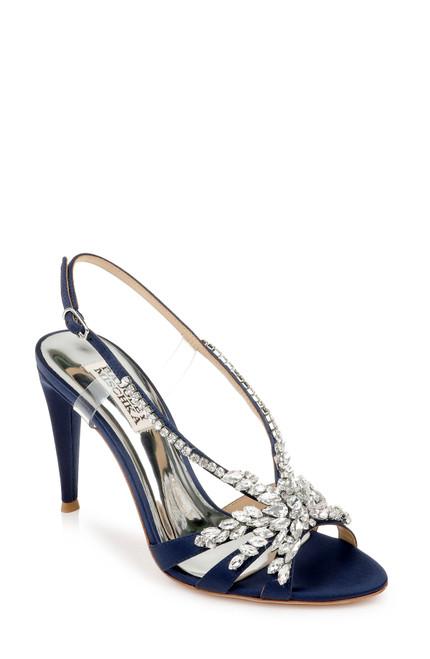 Midnight Jacqueline Crystal Embellished Sling Back Heel Front